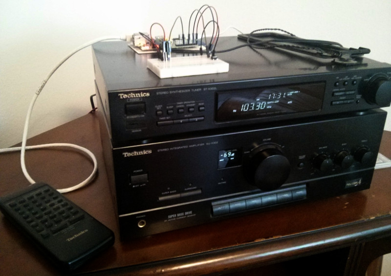 Hifi with shutdown button and IR receiver